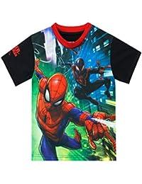 Marvel Camiseta de Manga Corta para niños El Hombre Araña