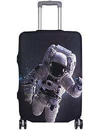 Preisvergleich für COOSUN Astronaut im Weltraum Print-Reise-Gepäck Schutzabdeckungen Waschbar Spandex Gepäck Koffer Cover - Passend...