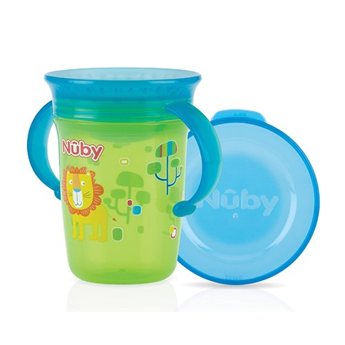 Nûby ID10410GREEN 360° Wonder Cup - 240 ml, Grün, Ab 6 Monate -
