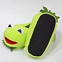 stogiit Comet Plush Slippers Big Frog Plush Home Cotton Shoes Anime Cartoon Indoor Warm Slippers One Size (About 28Cm)