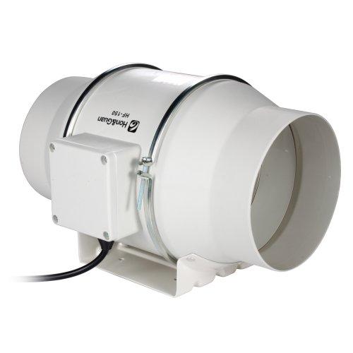 Hon&Guan 150mm Rohrventilator Mischdurchfluss Rohrlüfter mit Starker Abluft System 312CFM für Büro , Bad , Halle , Hydroponic Zimmer (1 Geschwindigkeiten-kugellager Motor)