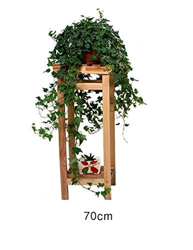 HOMEE Blumenständer aus massivem Holz Blumenständer im europäischen Stil Wohnzimmer Balkon mehrstöckigen faltbaren Blumenständer aus Holz --Home Environment Decorations,70 * 29 * 25 cm