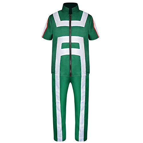 Und Kostüm Turnanzug Strumpfhose - YXRL My Hero College Cosplay Tänzerin Halloween Kostümfest Requisiten Leistung Kostüm Turnanzug Green-XL