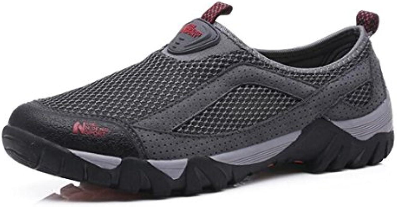 Las Zapatillas De Deporte Respirables del Verano De Los Hombres, Zapatos Ocasionales De La Manera Usable Antideslizante...