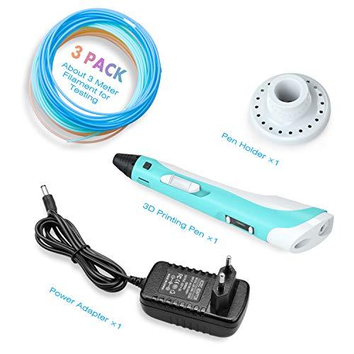 Tintec 3D Stift, 3D Druckstift 3D Stift Set 3D Pen mit LED-Bildschirm 1.75mm PLA/ABS Filament für Kinder und Erwachsene, Zeichnung und Kunstwerke - 7