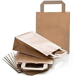 10petites Marron naturel papier kraft Sac en papier papier emballage cadeau sac pochette cadeau sacs en papier cadeau 18x 8x 22cm Petit cadeau Pochette de Give Away
