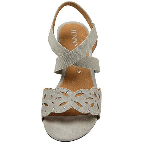 Jenny by ara belluno 22–54121, sandales pour femme beige (gris) Beige - Beige (Kiesel)
