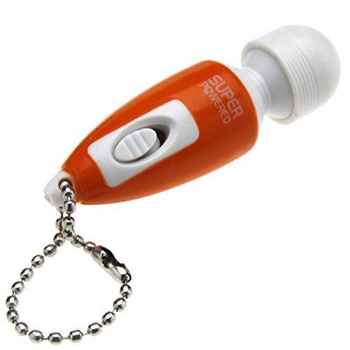 8m Tragbar Massage Stick Full Body klein key-chain Vibrieren Entspannen Massagegerät Orange (Orange Massage-stick)