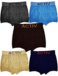 HAP Boys Trunks | Pack of Five |Innerwear/Boxer/Drawer/Outer Elastic