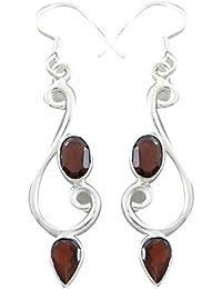 925 Sterling Silver Earrings Gemstone Dangle Earring Fashion Indian Jewellery Gift For Women