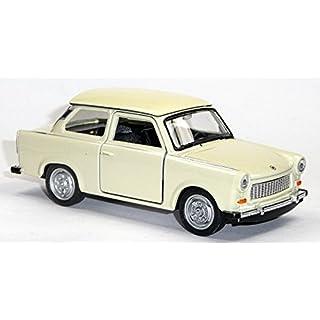 Trabant 601 Maßstab 1:34, Rückzugmotor Auto Modellauto Spritzguß (weiß)