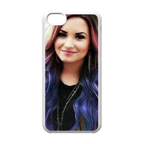 Demi Lovato coque iPhone 5C Housse Blanc téléphone portable couverture de cas coque EBDXJKNBO10775