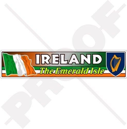IRLAND Irische Flagge-Wappen EIRE, das Emerald Isle Emblem 180mm Auto & Motorrad Aufkleber, Vinyl Sticker (Wappen Irland)