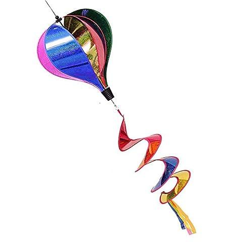 Dairyshop 1pièce Rainbow Paillettes Manche à air rayé montgolfière à