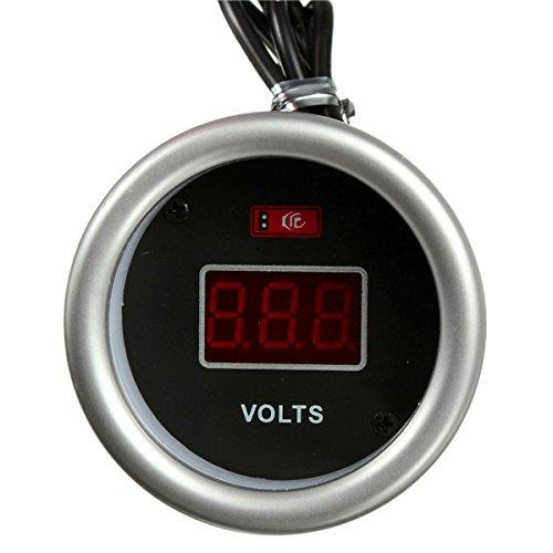 YONGYAO 2 Inch 52 V 12V Rot Led Digital Display Spannung Volt Meterr Volt Gauge W/Fitting Kit