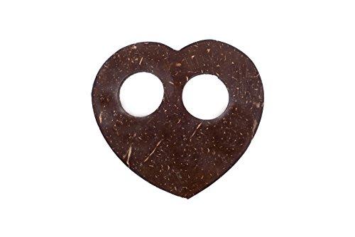 Sarongschnalle Pareo Wickel Rock Schnalle Spange Schliesse aus Kokos zum Sarong binden - sieben verschiedene Formen zur Auswahl Herz