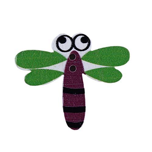 Weiy gemischte hölzerne Taste Libelle Taste Eule Taste Blatt Tasten Fan Vogel und Käfig Taste Sewing Craft Scrapbooking DIY Home Decor