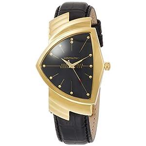 Hamilton H24301731 Ventura – Reloj de Cuarzo para Mujer, Acero Inoxidable, Color Negro