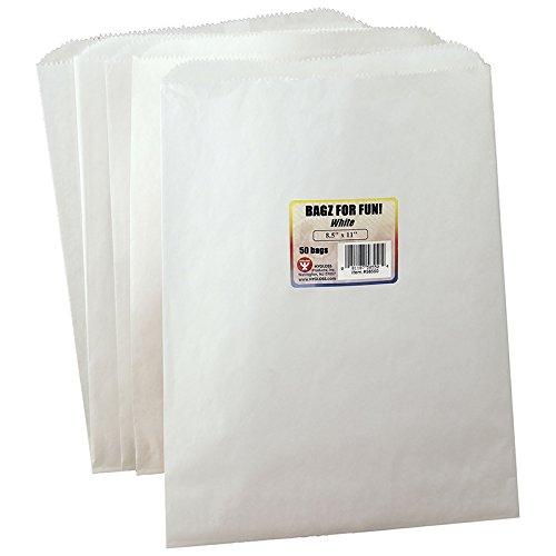 HYGLOSS PRODUKTE INC. Bunte Papier Taschen 8,5x 11weiß -