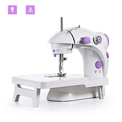 Mini máquina de coser JXJH con mesa de extensión Máquina de remodelación de artesanía ajustable portátil de 2 velocidades con pedal Versión de actualización para niños principiantes Uso en viajes