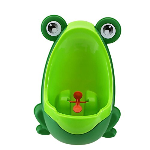 Froggy Baby Urinal - Perfect Mommy's Helper for Potty Training (Dark Green)