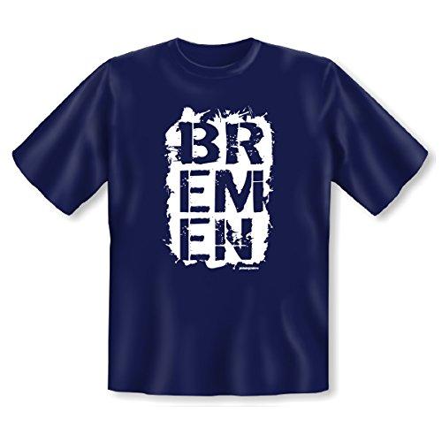 Städte T Shirt im coolen Style Bremen Goodman Design Navy-Blau