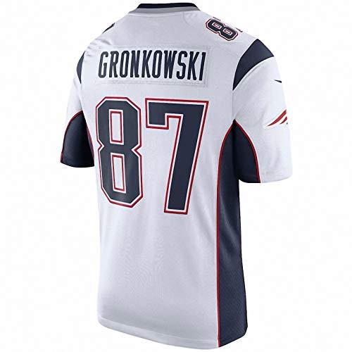 Dabria 87 Rob Gronkowski Men's New England Patrioten Super Bowl Trikot - White (XL)