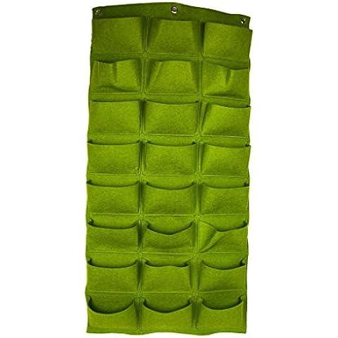 Vertical 24 bolsillos AMARS Living tapiz de pared hecho a crecimiento de plantas de jardín recipiente tapiz de pared hecho a macetero bolsas de fieltro o hierbas diseño de flores de