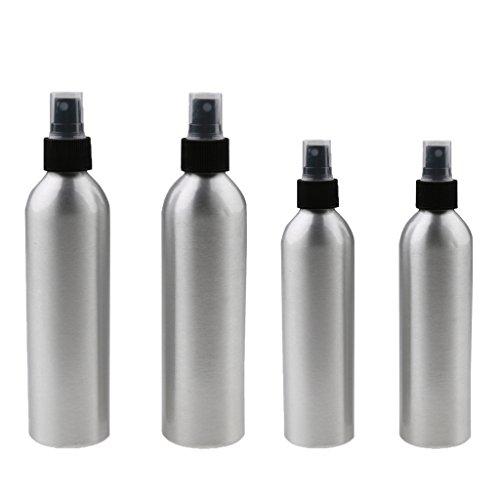 Homyl Vide Atomiseur Vaporisateur de l'Eau à Cheveux en Aluminium pour Salon de Coiffure - Bouteille de Jet d'Eau en Brouillard 4pcs 100ml + 150ml