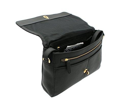 Tula NAPPA ORIGINALS ghiaia in pelle borsa a tracolla 8479 Navy Black