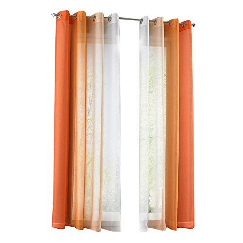 Tende Gradiente Tenda Stampata per Finestra, Balcone, Soggiorno, Camera da Letto (Arancione, 140x175cm)