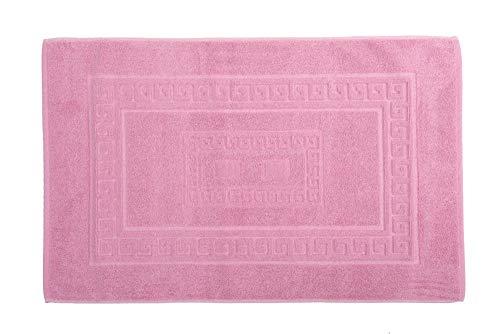 Homelife - tappeto bagno rettangolare in cotone, alta qualità made in italy - scendi doccia colorato lavabile in lavatrice - stile classico ed elegante [rosa - 60x120]