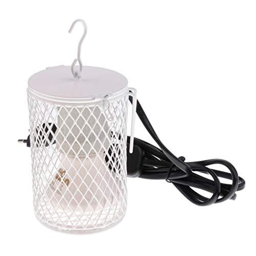 Tubayia Reptilien Wärmelampe Heizlampe UVA UVB Heizung Lampe für Terrarium Schildkröte Eidechse (Weiß-100W)