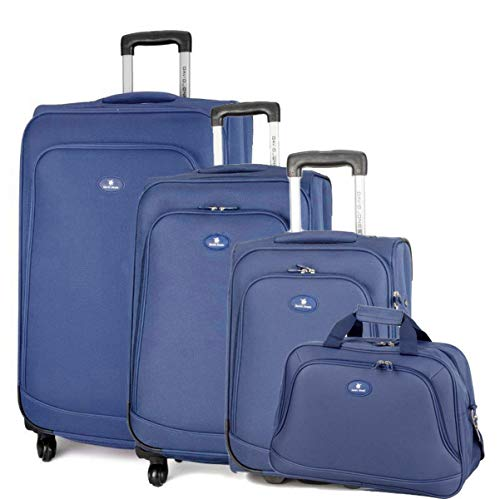 David Jones - Set de 3 Valises Souples 4 Roues + 1 Sac...