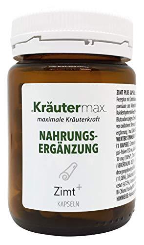 Zimt-Kapseln 1 x 60 Stk. - Zimt-Kapseln-mit-Chrom-und-Zink - Zimt-Kapseln-vegan - Zimt-Kapseln-hochdosiert - glutenfrei, gelatinefrei - pflanzliche Kapselhülle