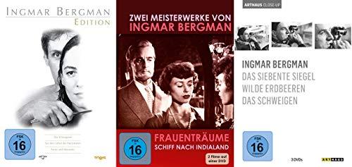 Die Meisterwerke von Ingmar Bergman 1947 - 1982 - 8 Klassiker DVD Collection - Fanny und Alexander + Das siebente Siegel + Das Schweigen + Wilde Erdbeeren + Schiff nach Indialand u.a.