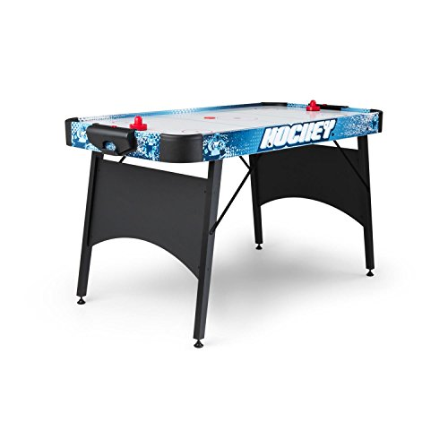"""OneConcept Polar Battle Table de air Hockey 6"""" Jeu de Palet (avec Ventilation silencieuse, 2 Raquettes, 2 palets, Compteur de Points, Pieds Anti dérapants) - Noir"""