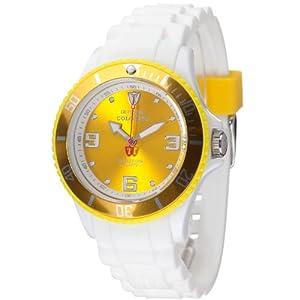 Detomaso DT3007-S – Reloj analógico de Cuarzo para Mujer, Correa de Silicona Color Blanco (Agujas luminiscentes, Cifras luminiscentes)