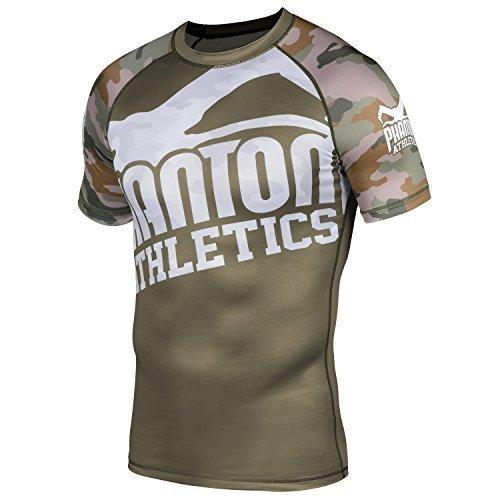 Phantom-Athletics-Rashguard-Warfare-Woodland-Camo-Fonction-T-shirt-de-compression-BJJ-MMA-grappling-T-shirt--manches-courtes