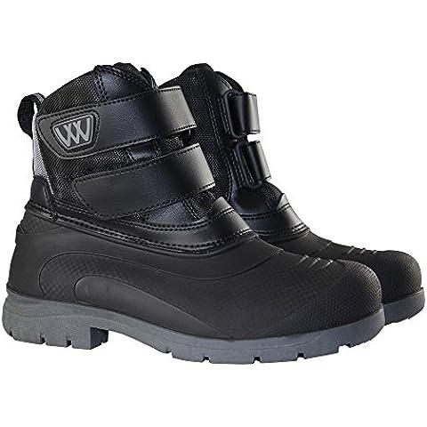 Woof Wear-Stivali corti, da adulto, colore: nero/argento