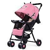 CDREAM Kinderwagen Leichter Buggy mit Sonnenverdeck Safety 1st Kompakter,Pink