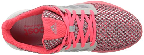 Adidas Performance Solar Boost Running Shoe, rose / argent / blanc, 5 M Us Grey/Silver/Pink