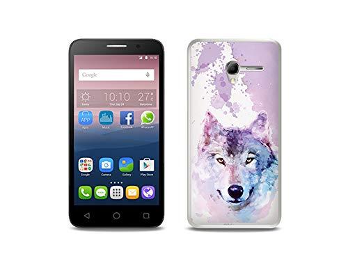 etuo Handyhülle für Alcatel One Touch Pop 3 (5) - Hülle, Silikon, Gummi Schutzhülle - Traumwolf