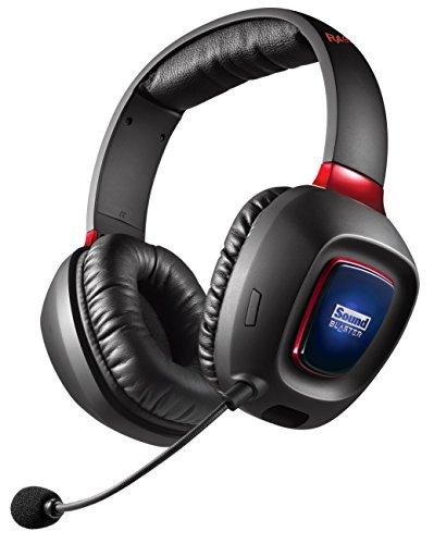 Creative Sound Blaster Tactic3D Rage Wireless V2.0 Gaming Headset für PC, Mac und PS4, schwarz - 2