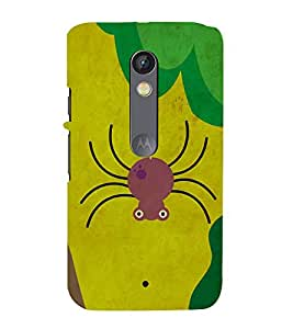 Spider Cartoon 3D Hard Polycarbonate Designer Back Case Cover for Motorola Moto X Play