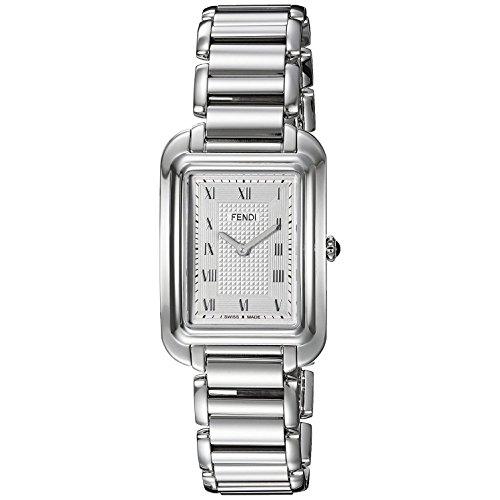 Fendi Women's Steel Bracelet & Case Swiss Quartz Silver-Tone Dial Analog Watch F701036000
