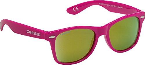 Cressi Kinder Maka Teen Sonnenbrille, Rosa/Linsen Gelb, 5/9 Jahre