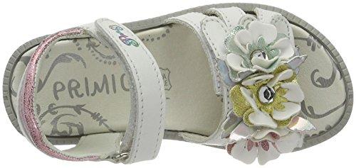 Primigi Pal 7602, Sandales Bout Ouvert Fille Blanc (Bianco/rosa)