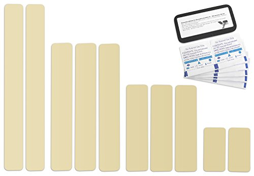 Selbstklebende Planenreparatur Tapes | 10 teilig | Easy Patch Comfort 50mm | Für Zelte, Planen uvm. | Elfenbein RAL1014
