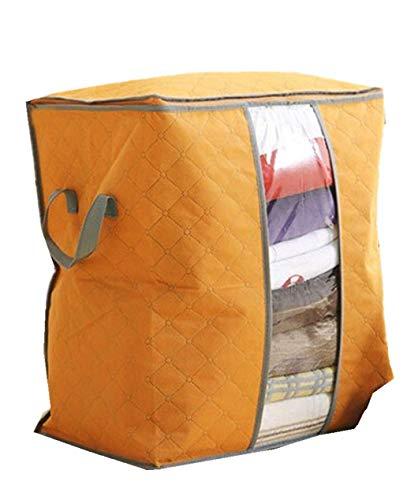 Farbige Aufbewahrungstasche für Kleidung Verkauf Aufbewahrungsbox Tragbare Organizer Non Woven Unterbodenbeutel Aufbewahrungstasche Box Aufbewahrungsmaterial für den Haushalt (Orange)